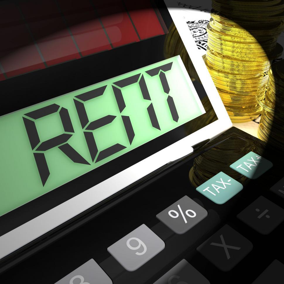 Download Free Stock HD Photo of Rent Calculated Means Paying Tenancy Or Lease Costs Online