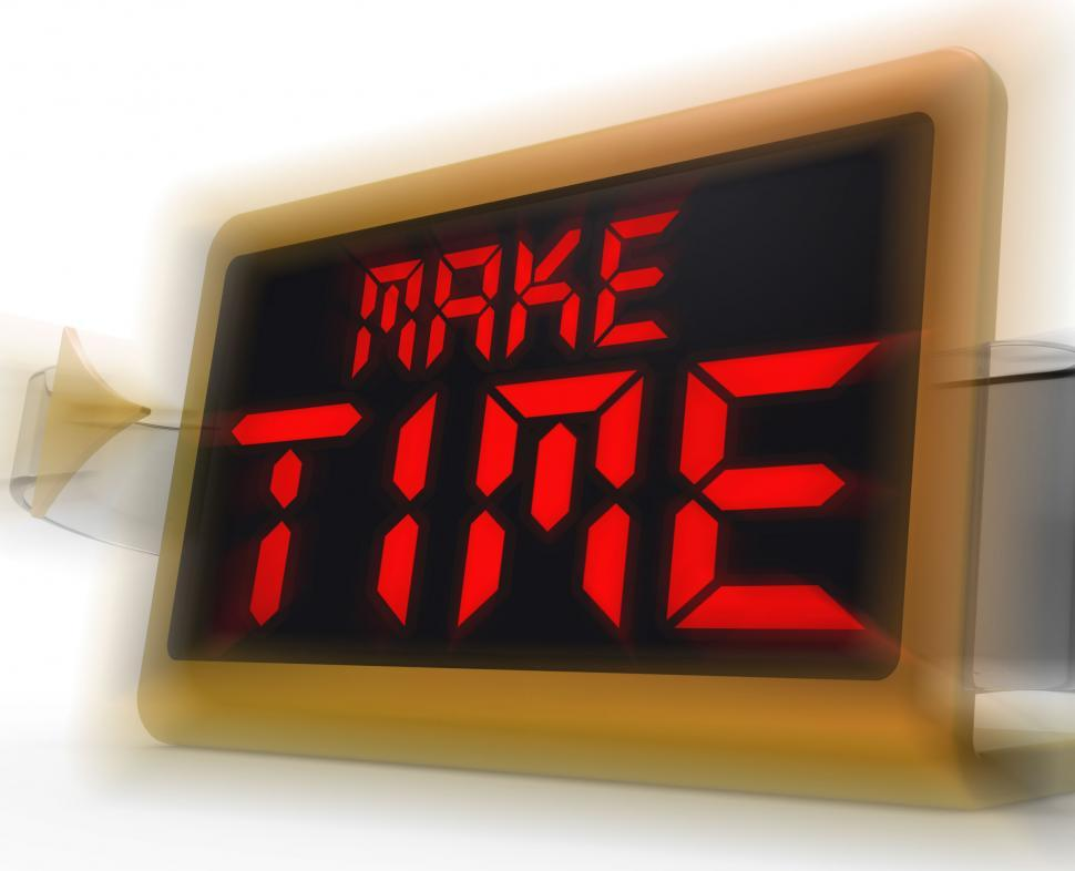 Download Free Stock HD Photo of Make Time Digital Clock Means Fit In What Matters Online