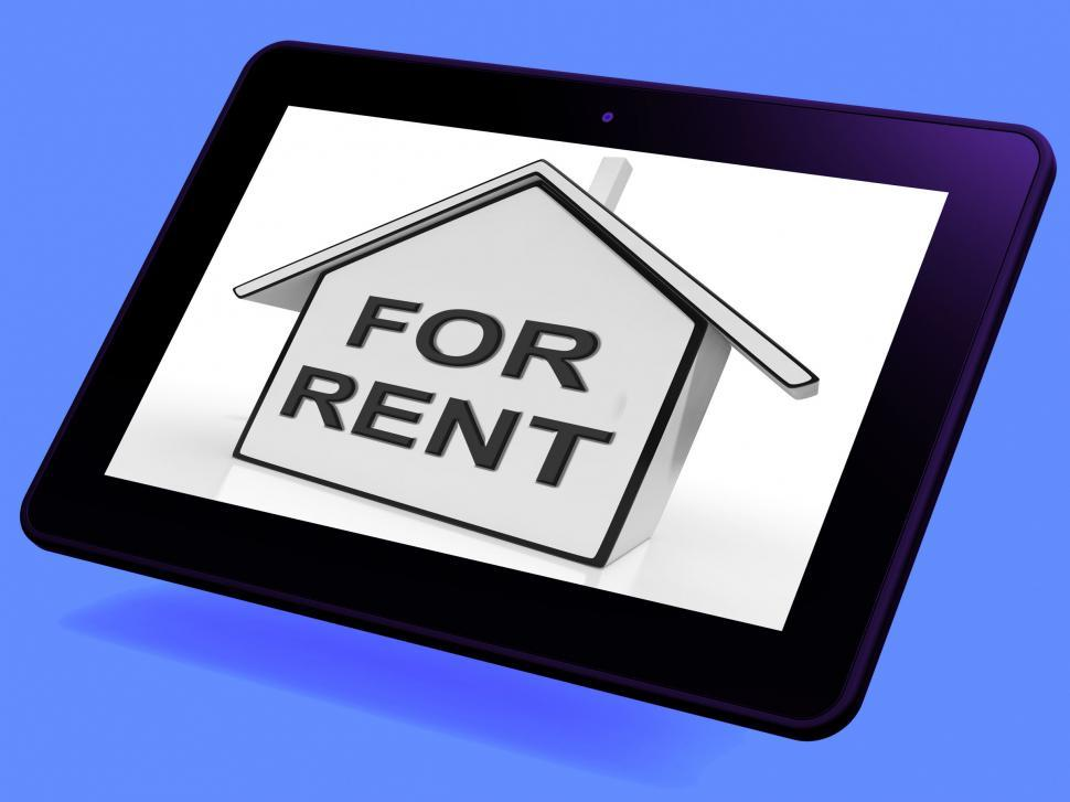 Download Free Stock HD Photo of For Rent House Tablet Means Property Tenancy Or Lease Online