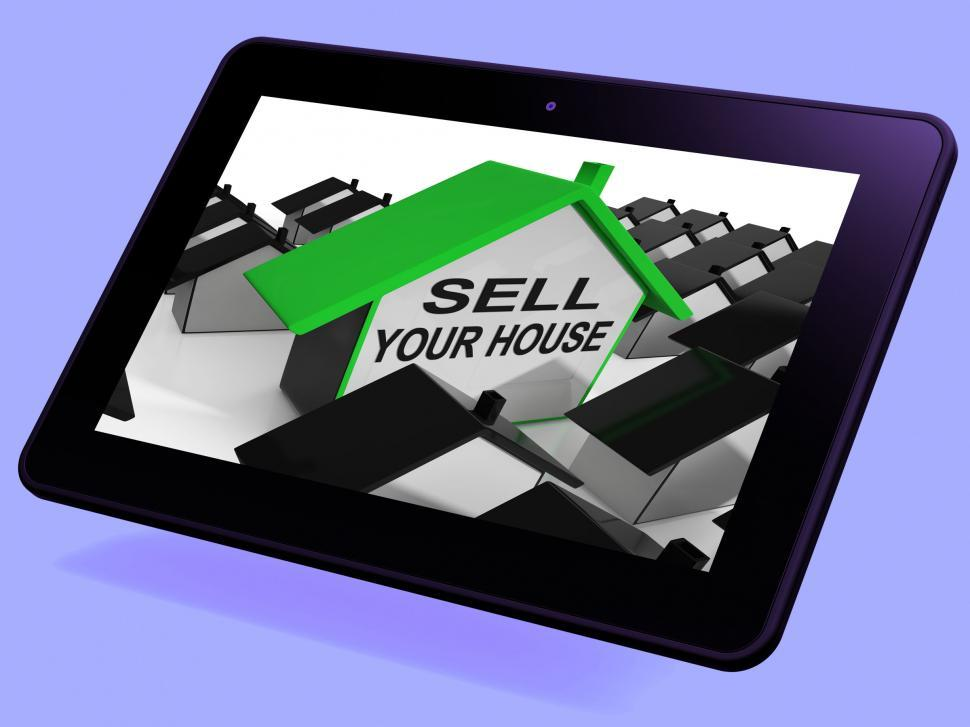 Get Free Stock Photo of Sell Your House Home Tablet Means Marketing ...