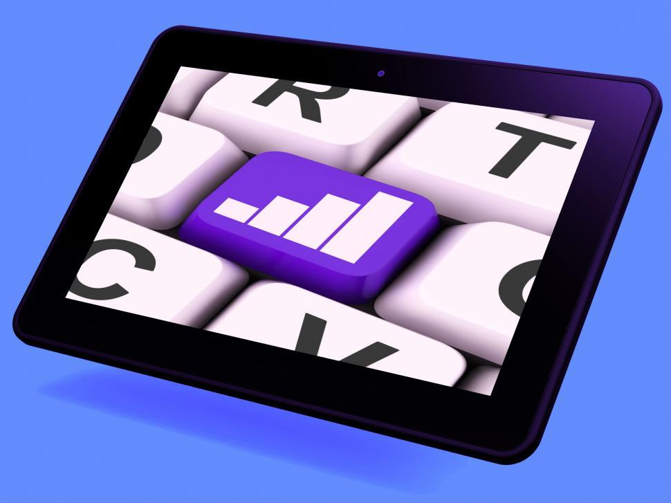 Download Free Stock HD Photo of Graph Key Tablet Means Data Analysis Or Statistics Online