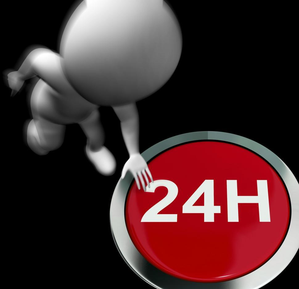 Download Free Stock HD Photo of Twenty Four Hours Pressed Shows Open 24H Online
