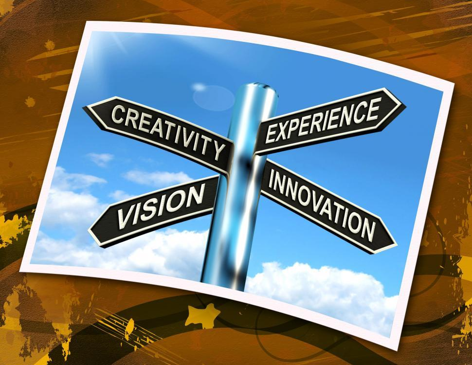 Download Free Stock HD Photo of Creativity Experience Innovation Vision Sign Means Business Deve Online