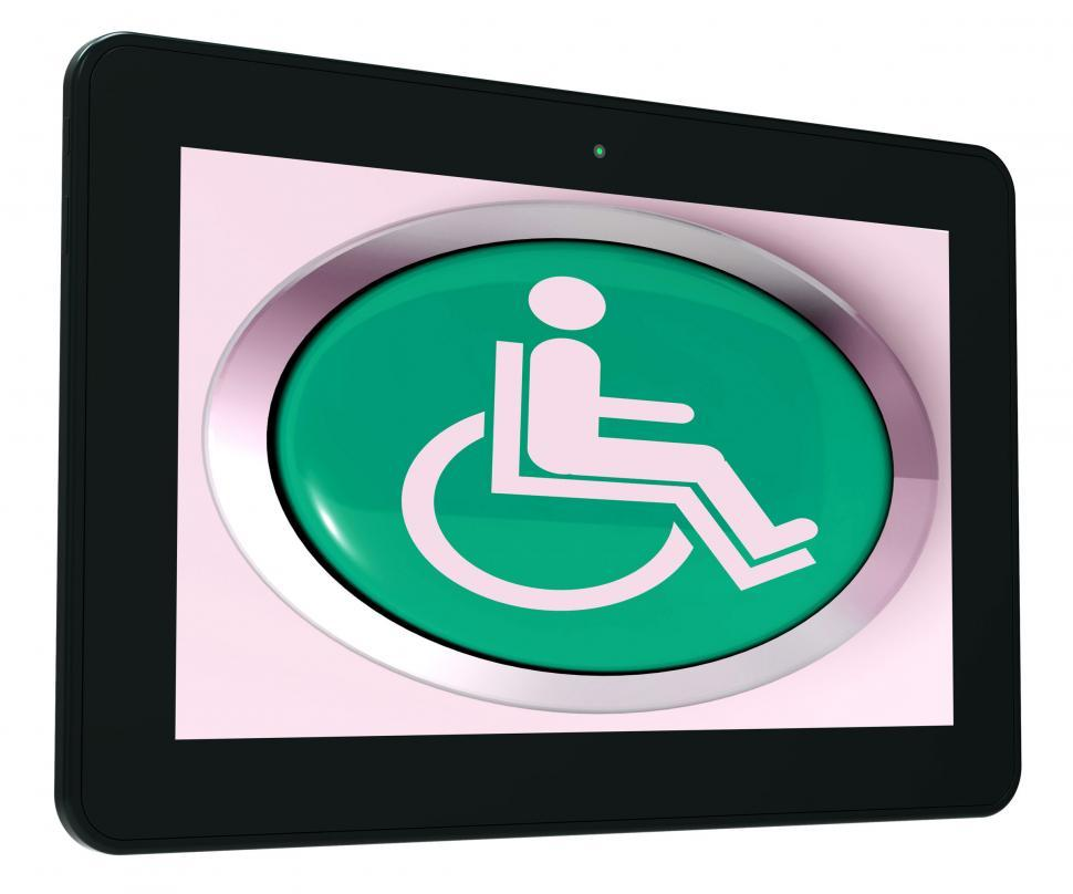Download Free Stock HD Photo of Disabled Tablet Shows Wheelchair Access Or Handicapped Online