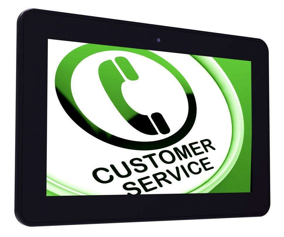 Download Free Stock HD Photo of Customer Service  Tablet Means Call For Help Online