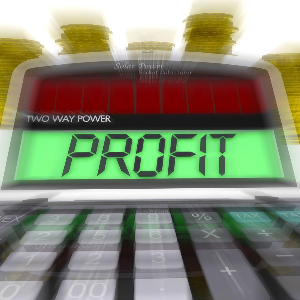 Download Free Stock HD Photo of Profit Calculated Means Surplus Income And Revenue Online