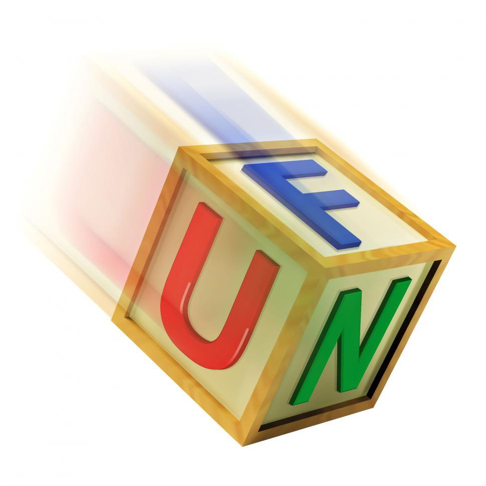 Download Free Stock HD Photo of Fun Wooden Block Shows Enjoyment Playing And Recreation Online