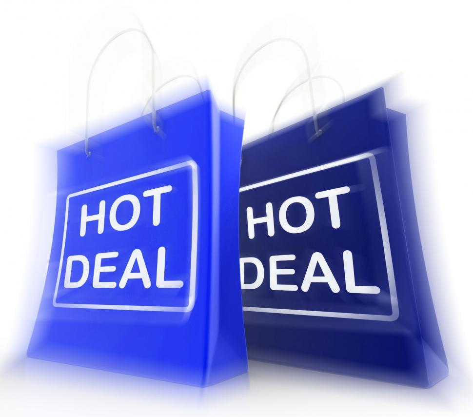 Download Free Stock HD Photo of Hot Deal Shopping Bags Show Shopping  Discounts and Bargains Online