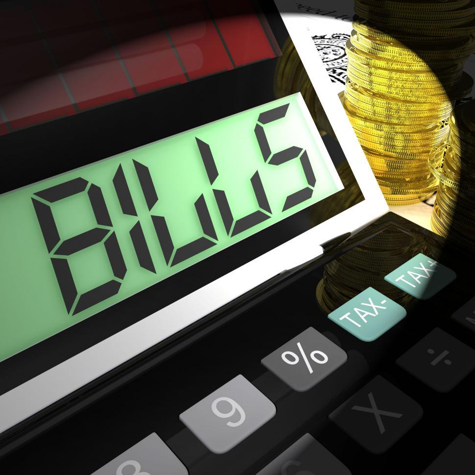 Download Free Stock HD Photo of Bills Calculated Means Invoices Payable And Owing Online