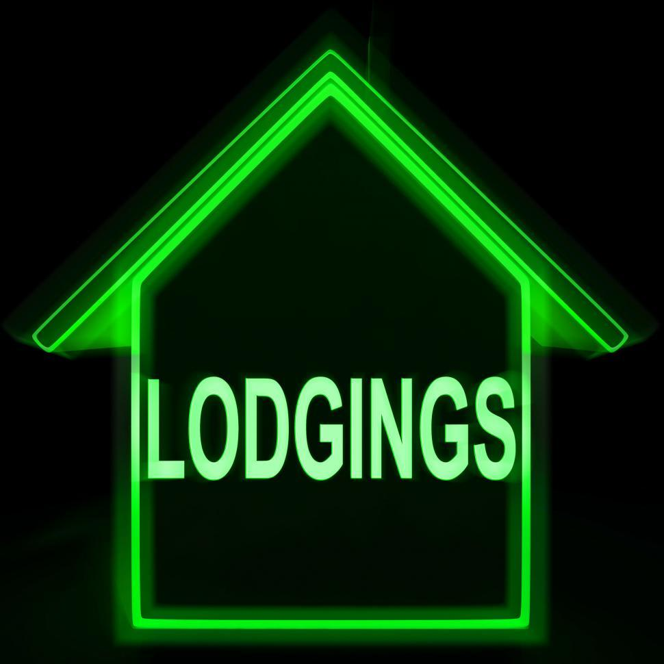 Download Free Stock HD Photo of Lodgings Home Means Rooms Accommodation Or Vacancies Online