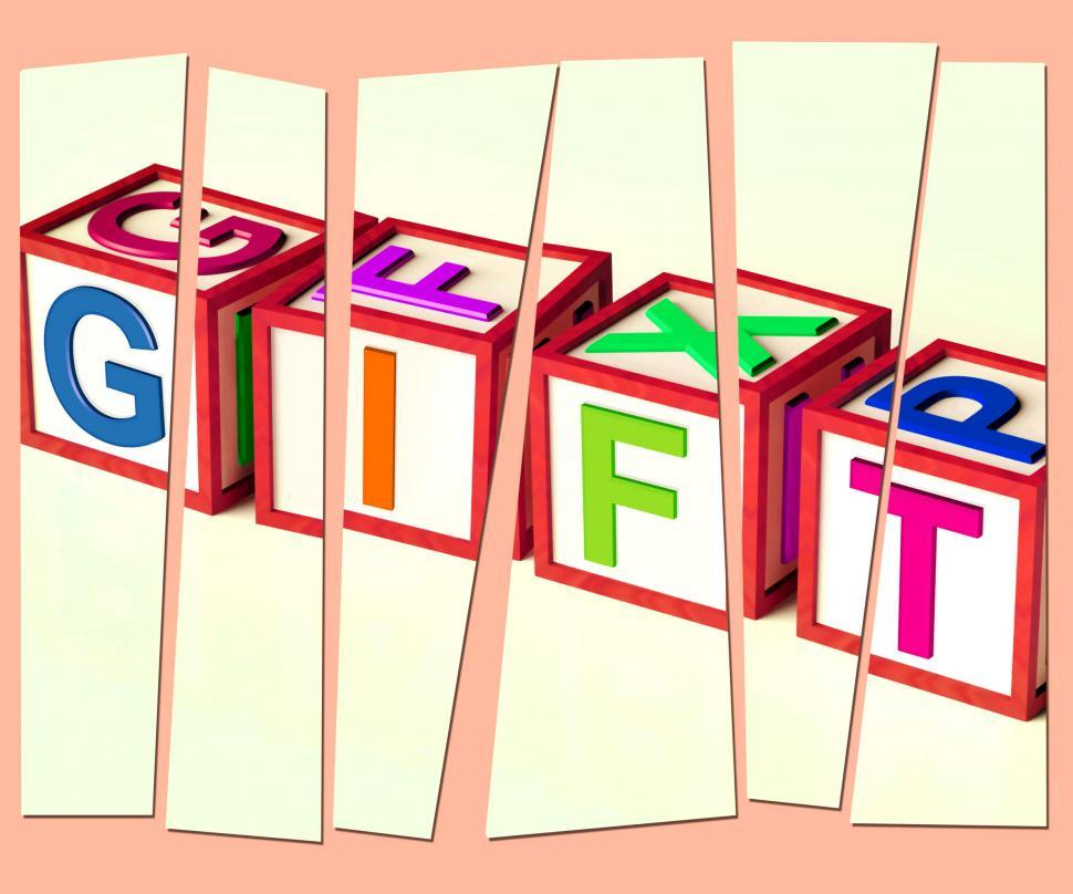 Download Free Stock HD Photo of Gift Letters Mean Giveaway Present Or Offer Online