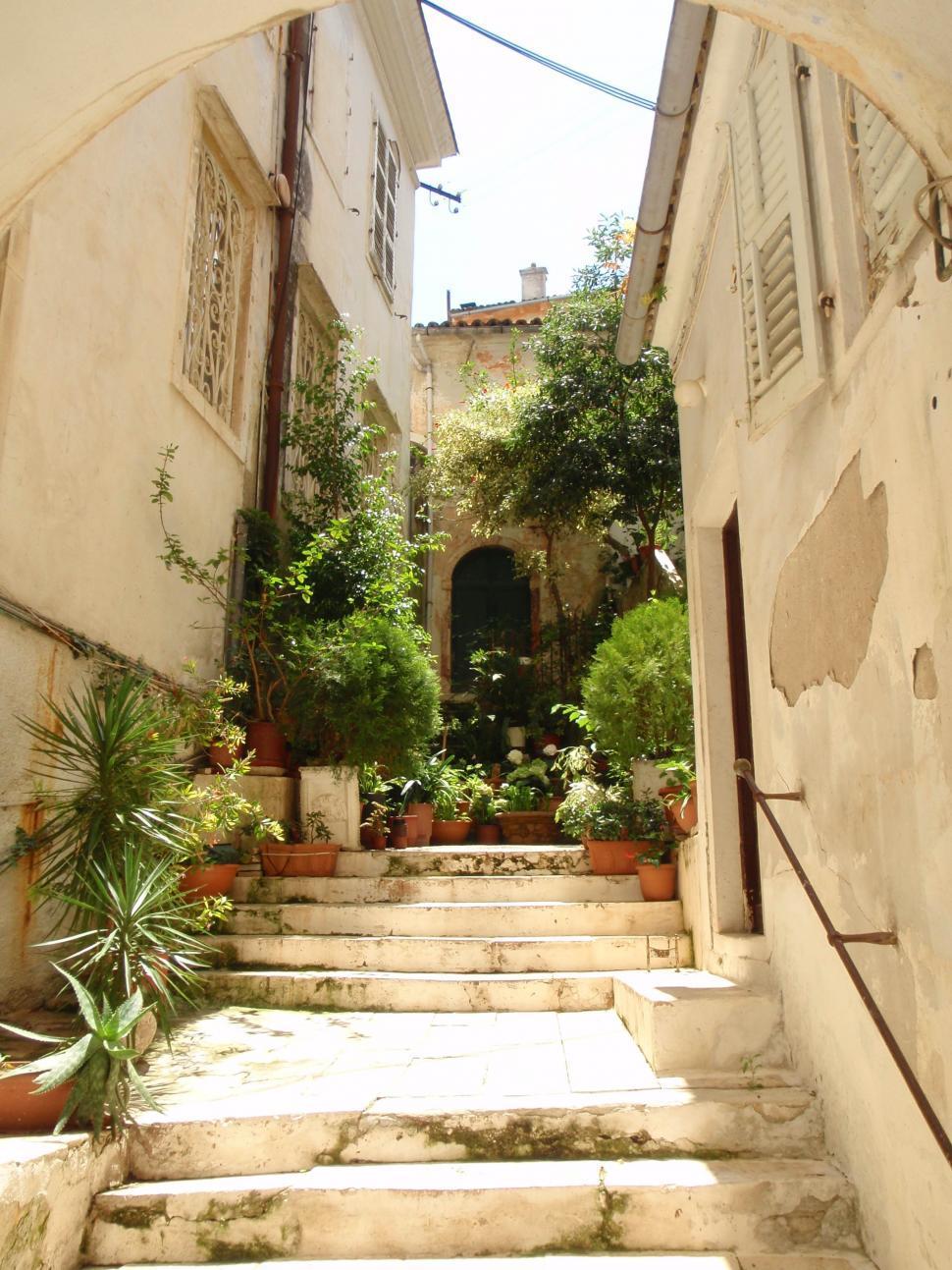 Download Free Stock HD Photo of Around Corfu, Steps to house, Corfu Town. Online