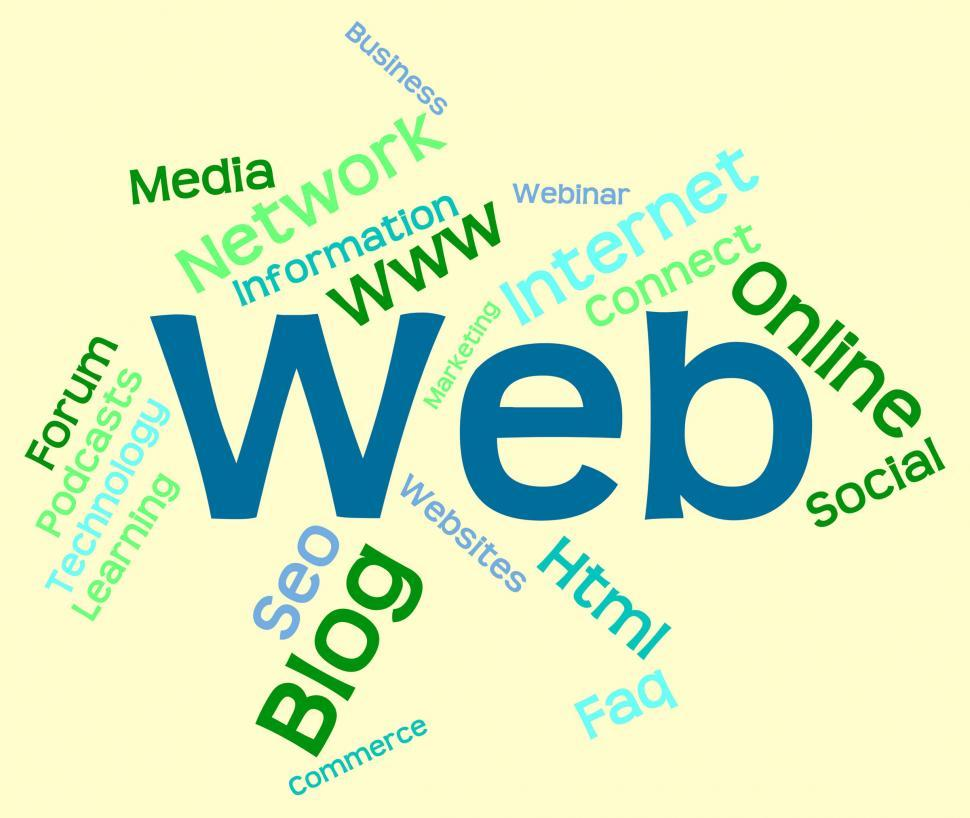 Download Free Stock HD Photo of Web Word Represents Website Text And Online Online