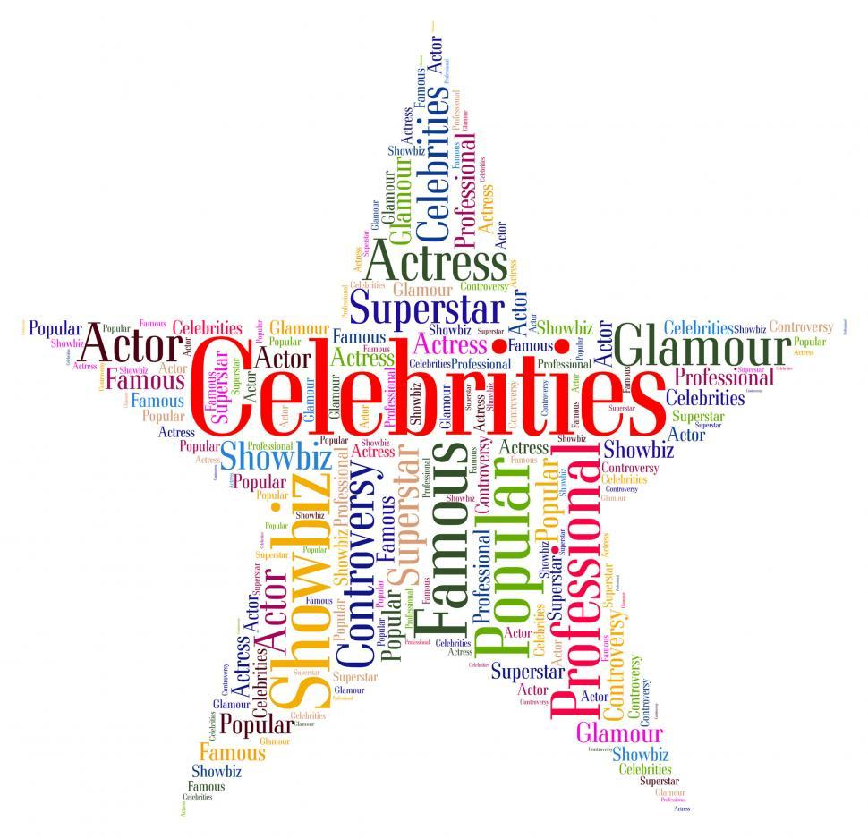Download Free Stock HD Photo of Celebrities Star Means Notorious Renowned And Celebrity Online