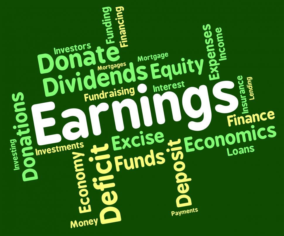 Download Free Stock HD Photo of Earnings Word Means Text Yield And Salaries Online