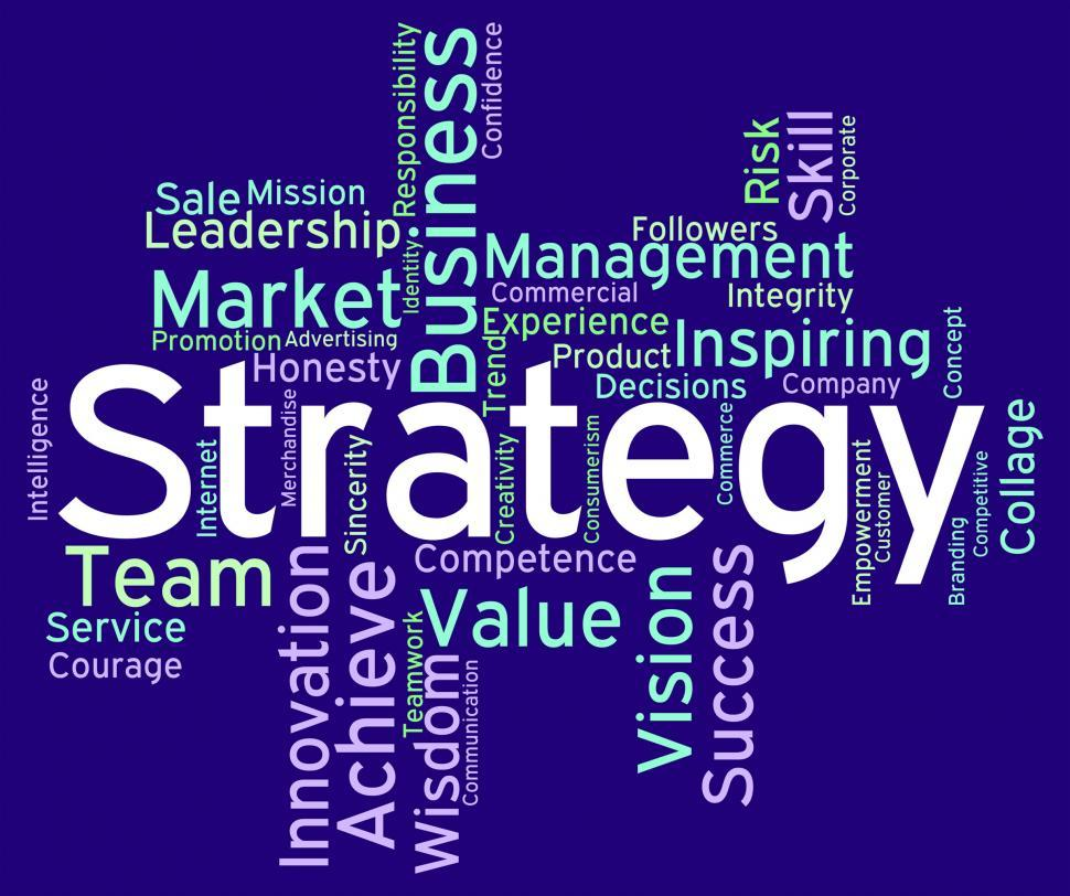 Download Free Stock HD Photo of Strategy Words Means Planning Solutions And Wordcloud Online