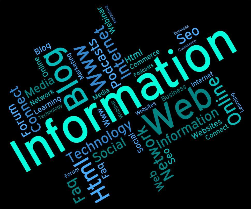 Download Free Stock HD Photo of Information Word Represents Wordcloud Support And Answer Online