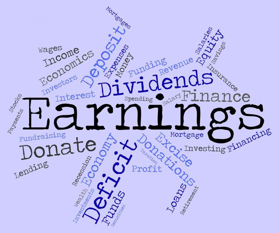 Download Free Stock HD Photo of Earnings Word Indicates Dividend Words And Revenue Online