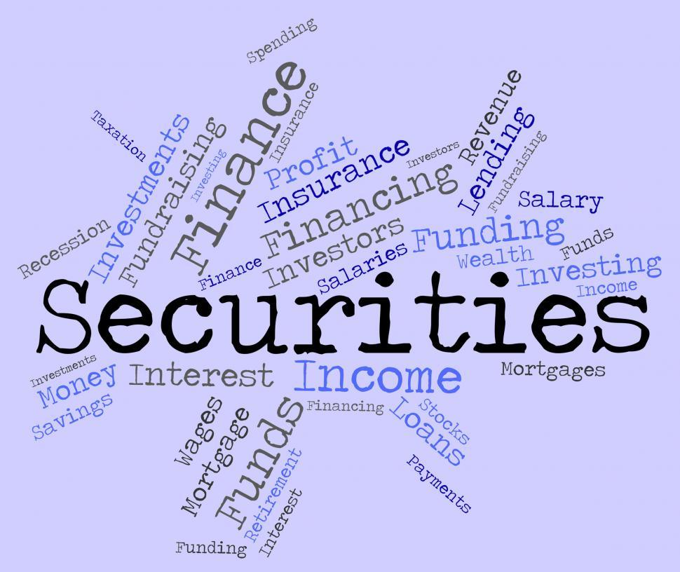 Download Free Stock HD Photo of Securities Word Indicates Bad Debt And Arrears Online