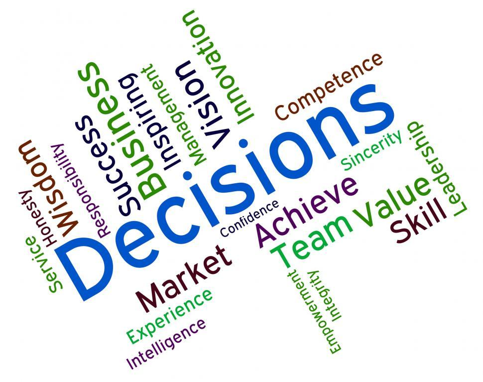 Download Free Stock HD Photo of Decision Words Indicates Choice Choices And Deciding Online