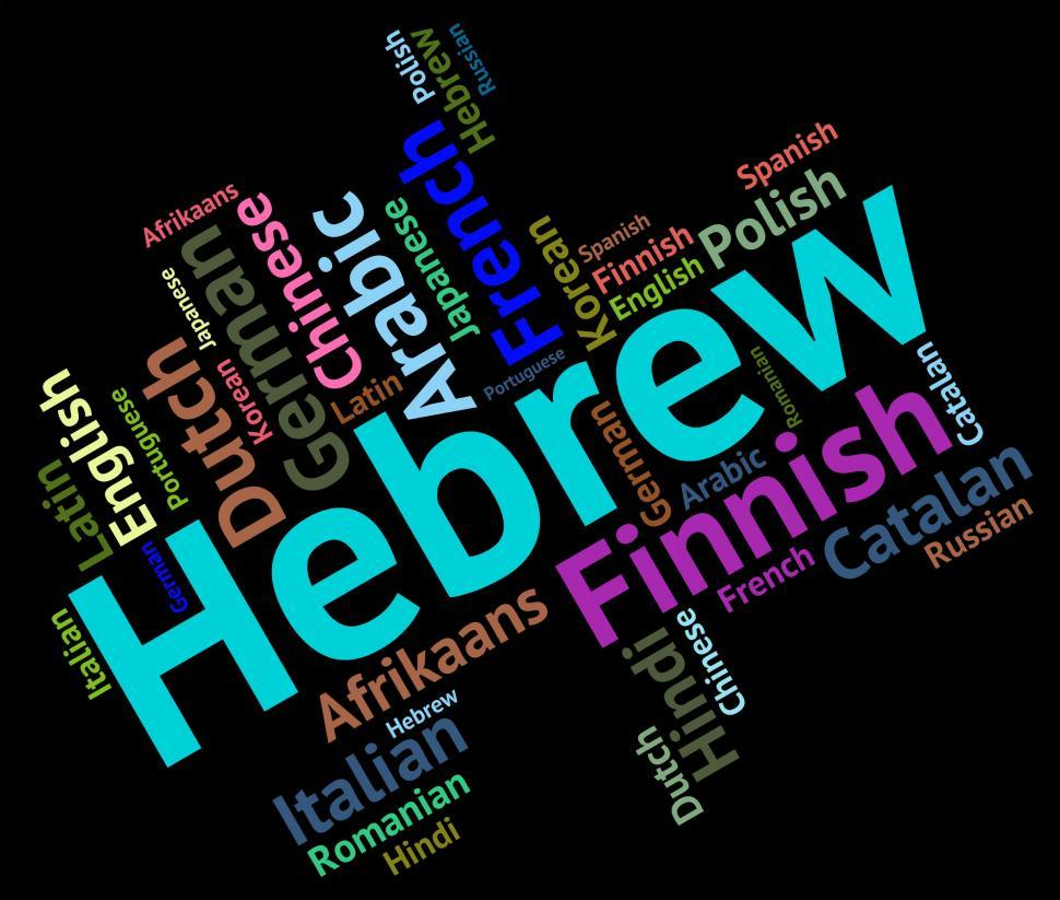 Download Free Stock HD Photo of Hebrew Language Indicates Words Word And Lingo Online