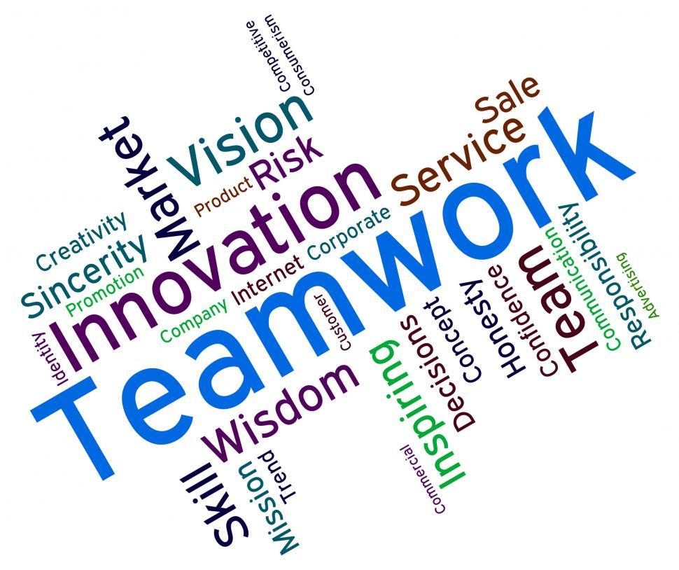 Free Stock Photo of Teamwork Words Shows Text Organized And ...