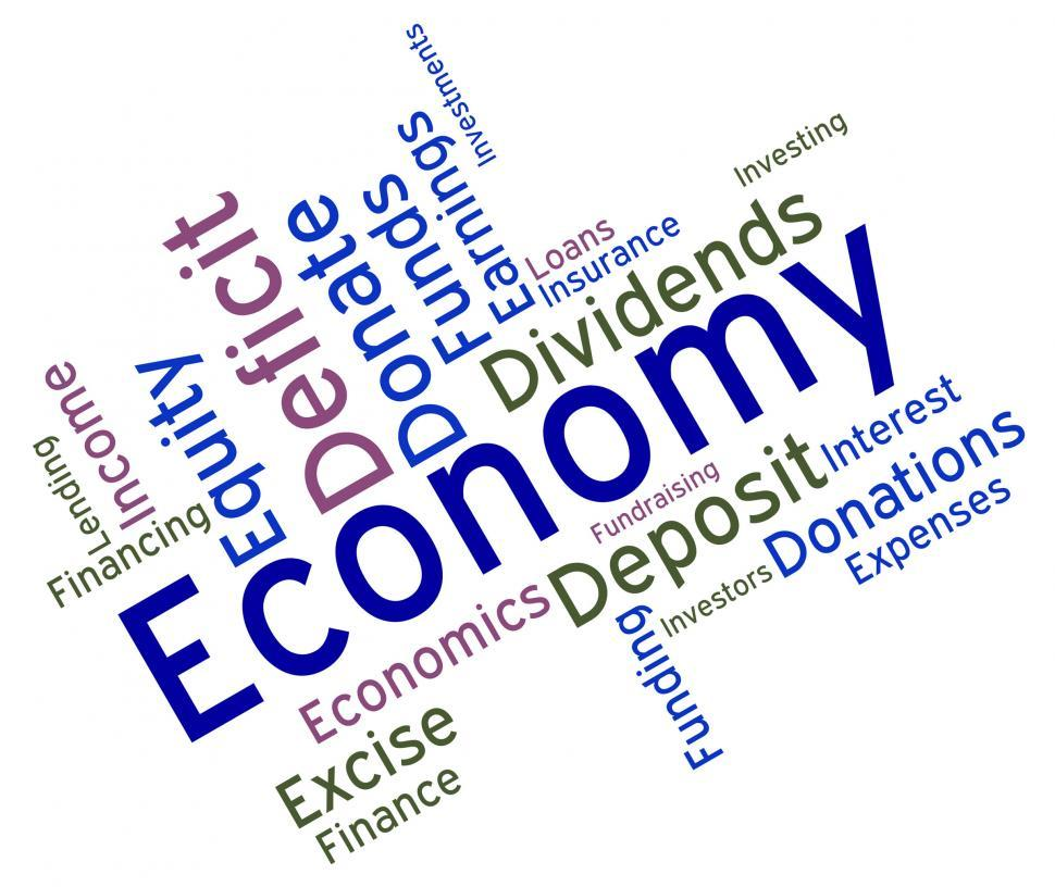Download Free Stock HD Photo of Economy Word Means Micro Economics And Economical Online