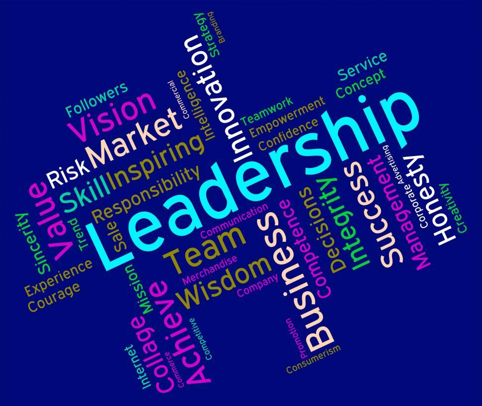 Download Free Stock HD Photo of Leadership Words Represents Led Command And Authority Online