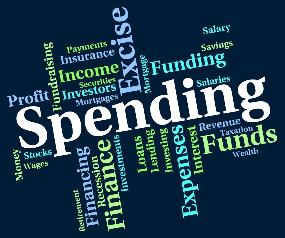Download Free Stock HD Photo of Spending Word Indicates Words Buying And Text Online