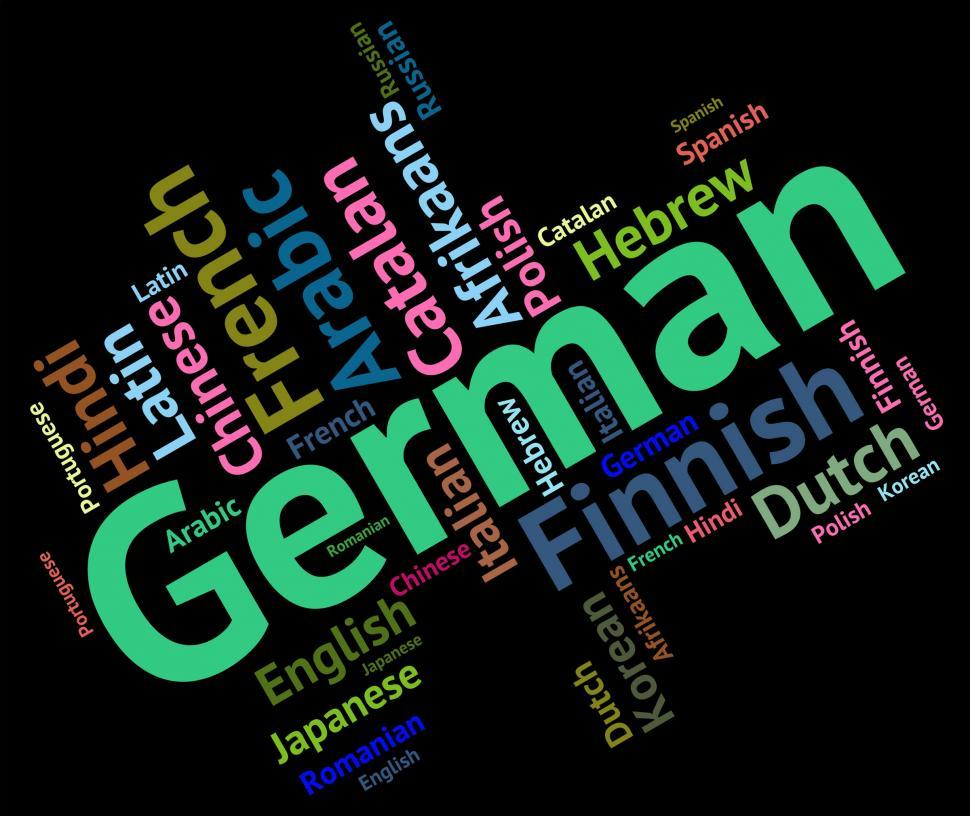 Download Free Stock HD Photo of German Language Indicates Text International And Foreign Online