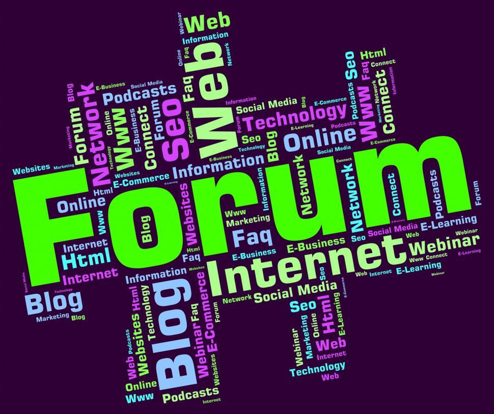 Get Free Stock Photos of Forum Word Means Social Media And