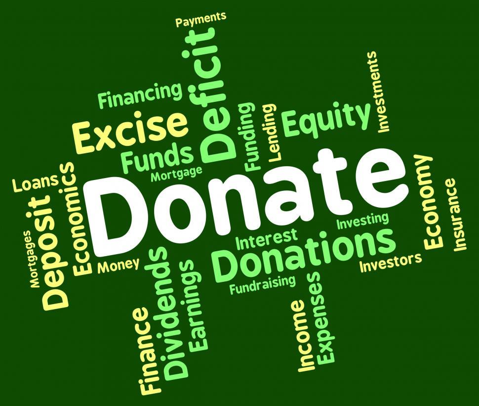 Download Free Stock HD Photo of Donate Word Indicates Contribution Text And Contributes Online