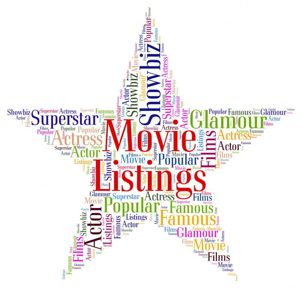 Download Free Stock HD Photo of Movie Listings Indicates Watch Movies And Cinema Online