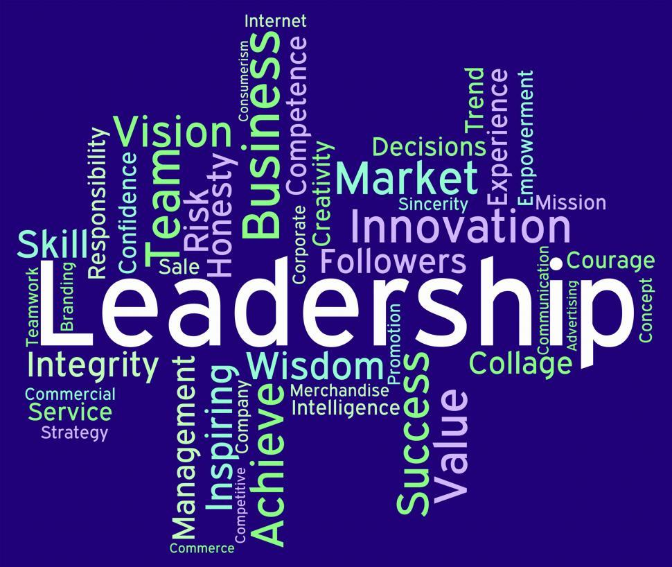 Download Free Stock HD Photo of Leadership Words Represents Influence Guidance And Control Online