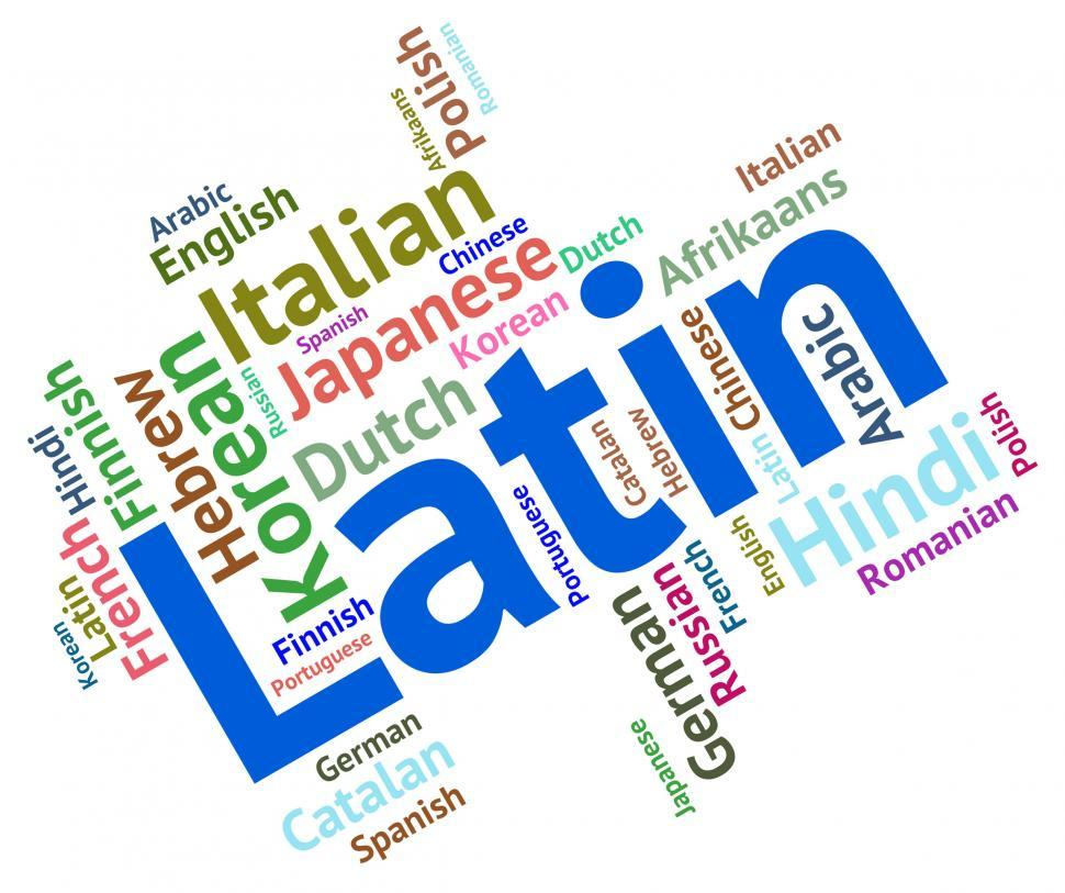 Download Free Stock HD Photo of Latin Language Represents Wordcloud Vocabulary And Lingo Online
