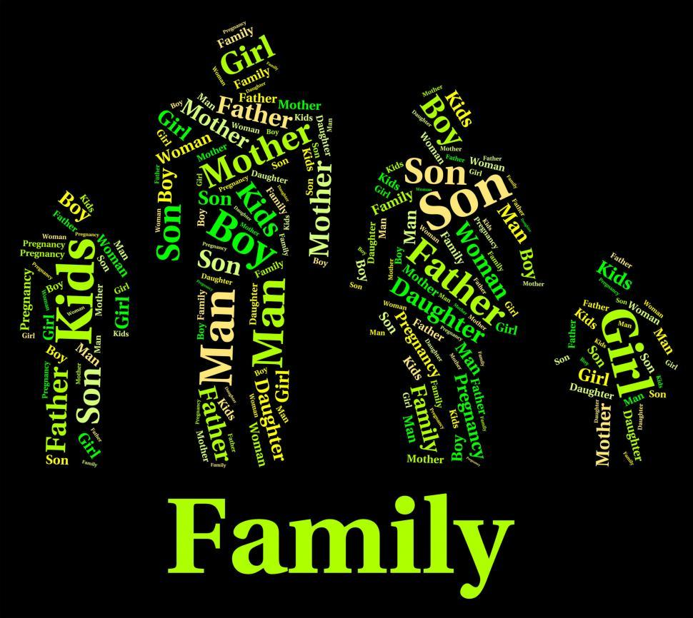 Download Free Stock HD Photo of Family Words Represents Household Wordcloud And Relations Online