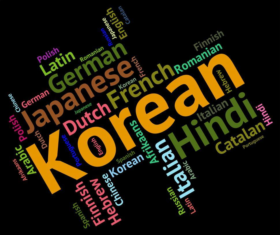 Download Free Stock HD Photo of Korean Language Represents Wordcloud Languages And Word Online