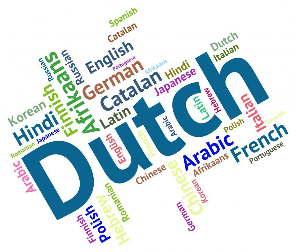 Download Free Stock HD Photo of Dutch Language Represents The Netherlands And Foreign Online