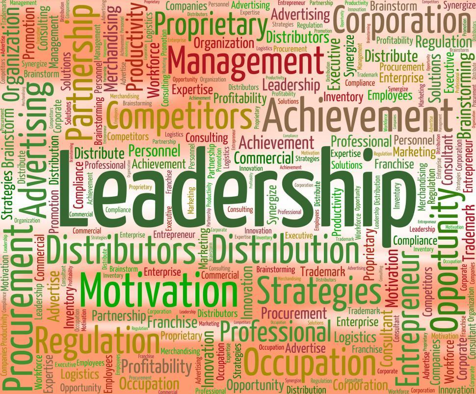 Download Free Stock HD Photo of Leadership Word Shows Directing Manage And Management Online