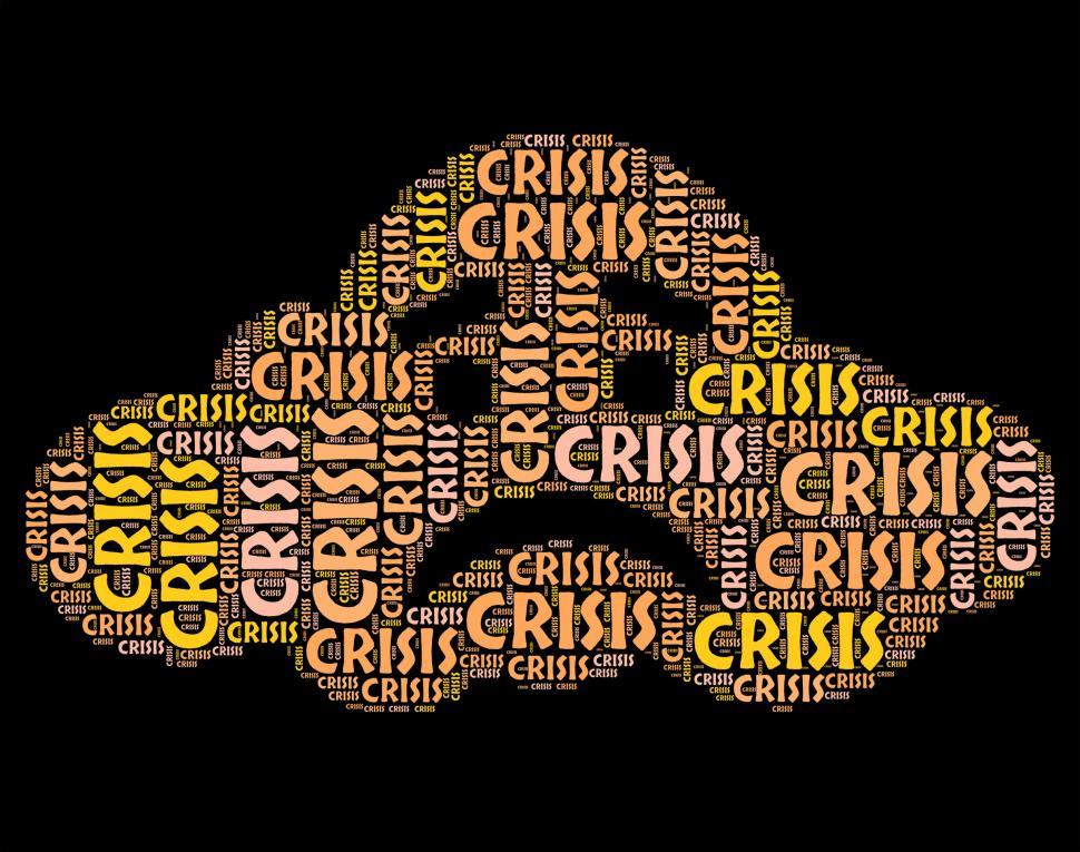 Download Free Stock HD Photo of Crisis Word Means Hard Times And Calamity Online