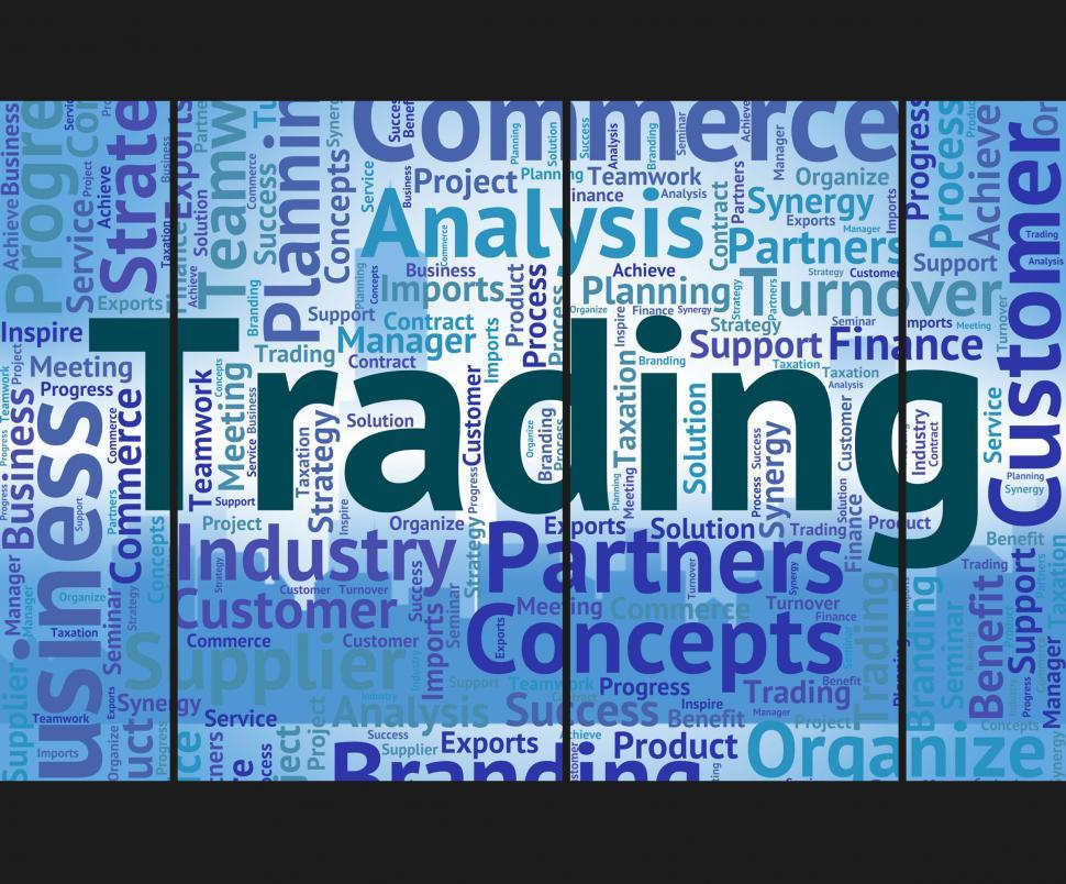 Download Free Stock HD Photo of Trading Word Shows Trade Text And Wordclouds Online
