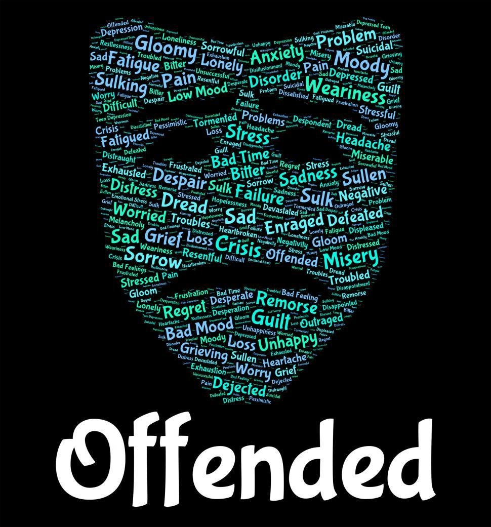 Download Free Stock HD Photo of Offended Word Represents Put Out And Affronted Online