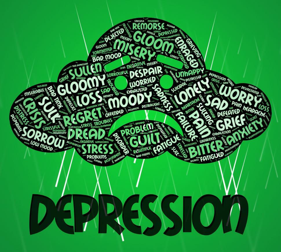 Download Free Stock HD Photo of Depression Word Means Lost Hope And Anxious Online