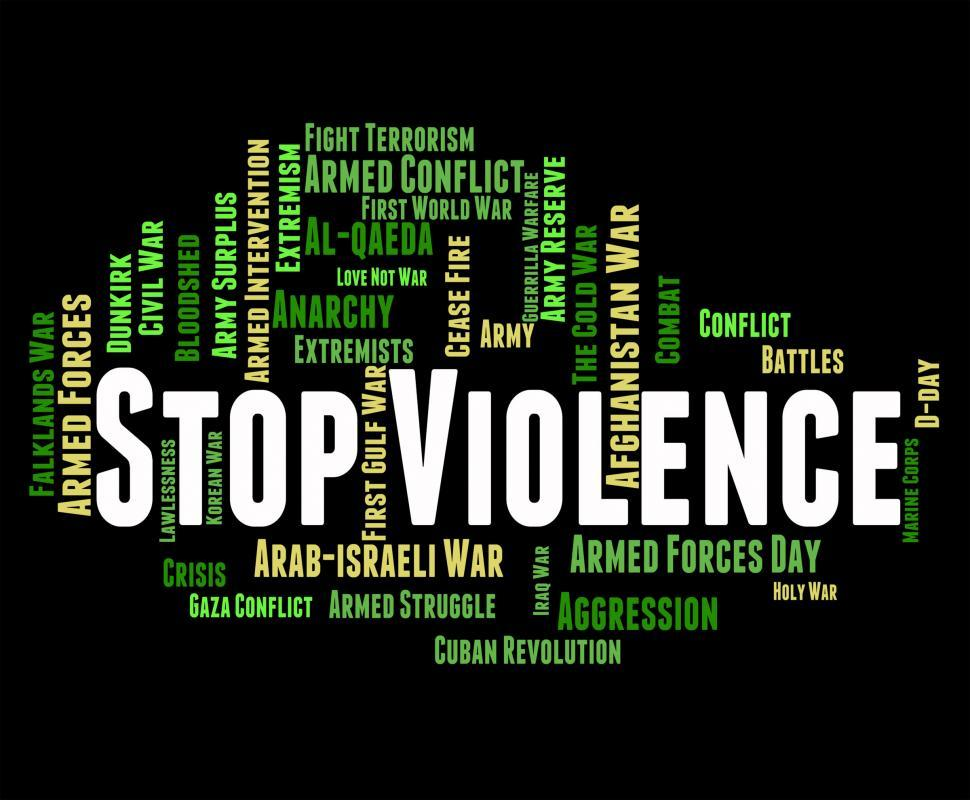 Download Free Stock HD Photo of Stop Violence Means Warning Sign And Brutality Online