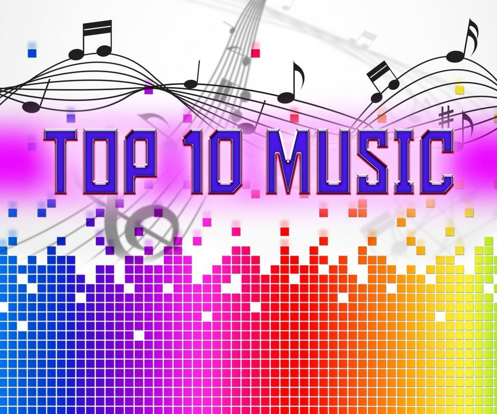 Download Free Stock HD Photo of Music Charts Represents Hit Parade And Hits Online