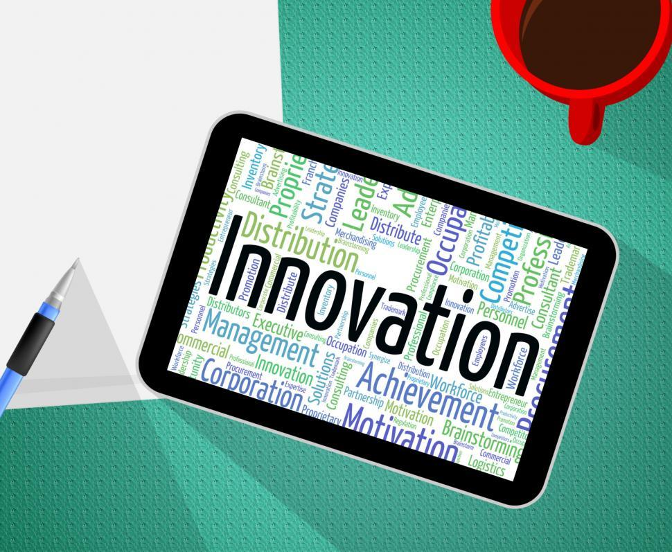 Innovation Word Shows New Idea And Innovate