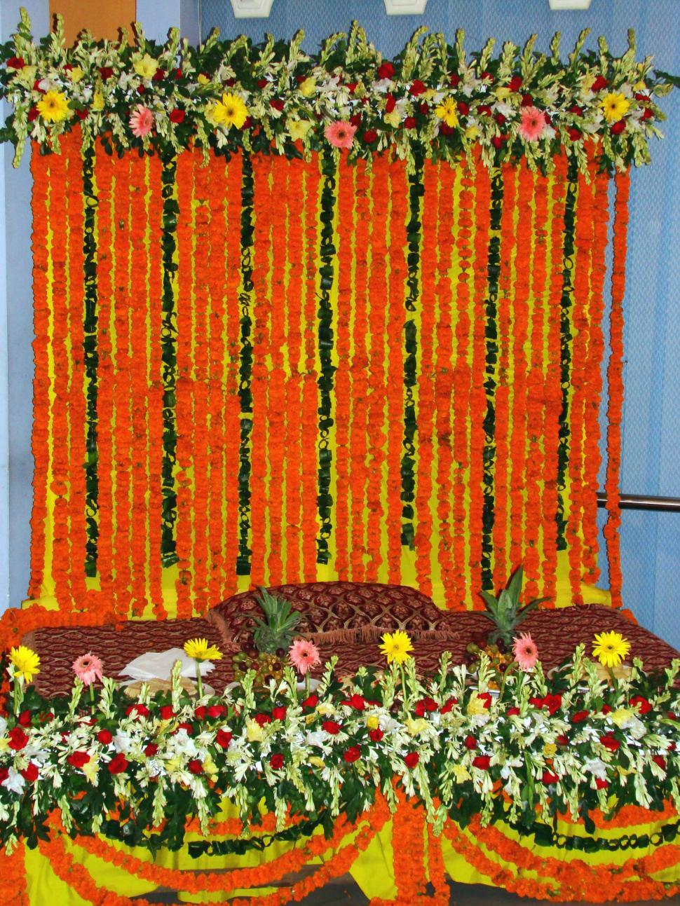 Download Free Stock HD Photo of Decoration of Marriage Stage Online
