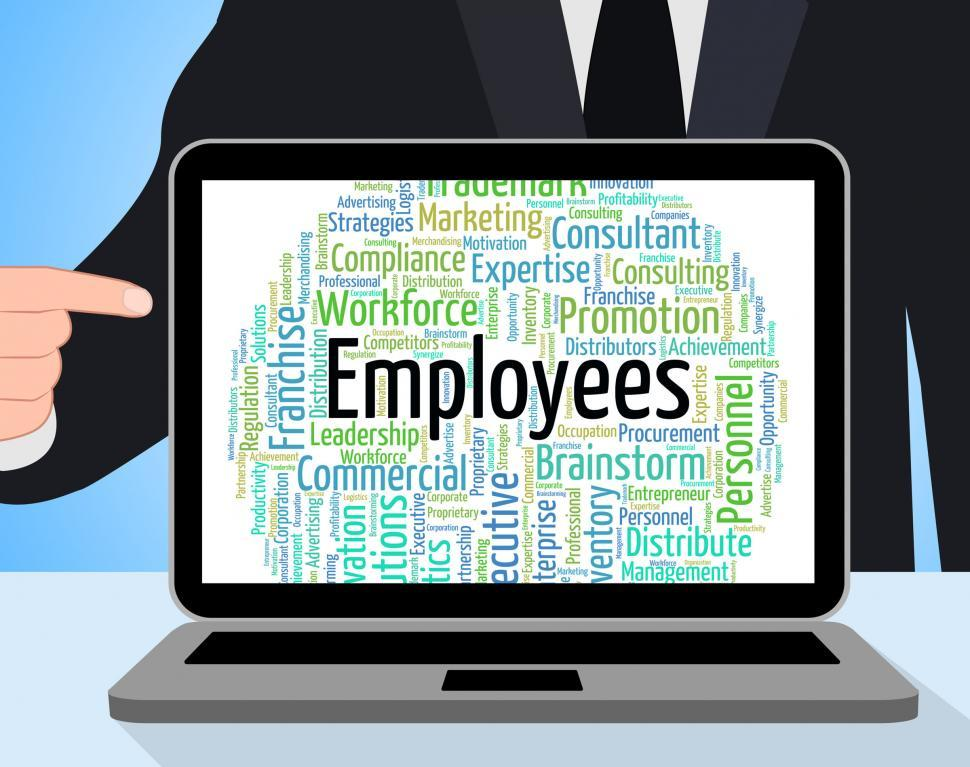 Download Free Stock HD Photo of Employees Word Represents Member Of Staff And Breadwinner Online