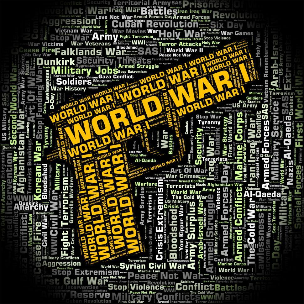 Download Free Stock HD Photo of World War I Indicates Warfare Wwi And Word Online