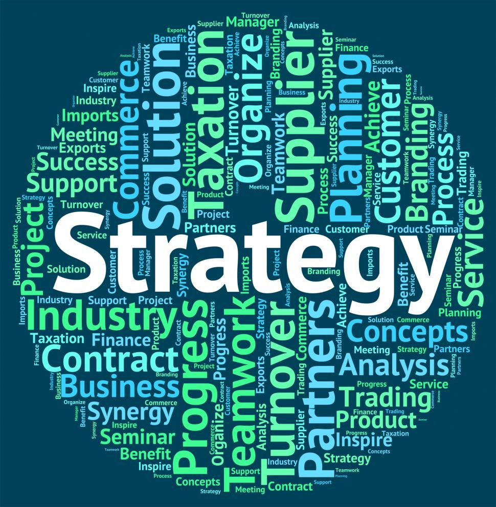 Download Free Stock HD Photo of Strategy Word Represents Strategies Tactics And Solutions Online